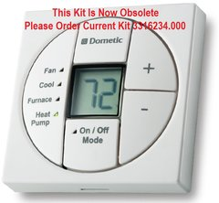 Dometic Single Zone LCD Thermostat, Cool/Furnace/Heat Pump, 3313189.064