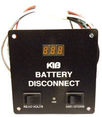 KIB Electronics Battery Disconnect Switch Panel w/ Voltage Display, BD110