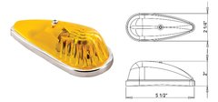 Incandescent Marker Light, Amber, 1A-S-64AC