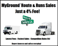 MyGround® Route & Linehaul Run Sales Support - Only a 4% Finder's Fee !!