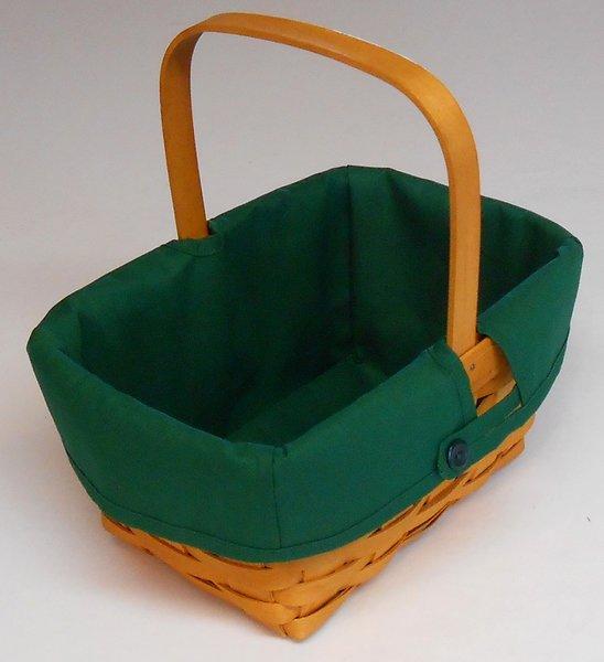 Handmade Longaberger Basket Liners : Spring hunter basket liners for the longaberger baskets