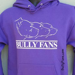 Bully Fans Logo Hoodie - Purple with White Logo