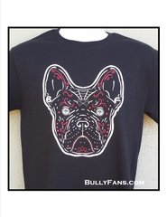 Bully Fans De Los Muertos T-Shirt - Black Frenchie with Red