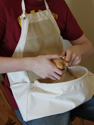 Leather Canvas Pouch Apron Mdi Woodcarvers Supply