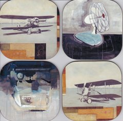 Airplane coasters ( set of 4 as pictured )