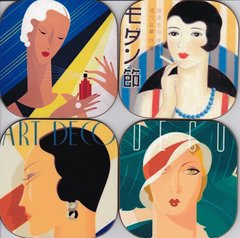 Art Deco ( set of 4 as pictured )