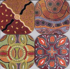 Aboriginal ( set of 4 as pictured )