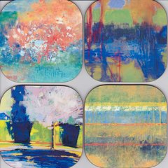 Abstract Landscape coasters ( set of 4 as pictured )