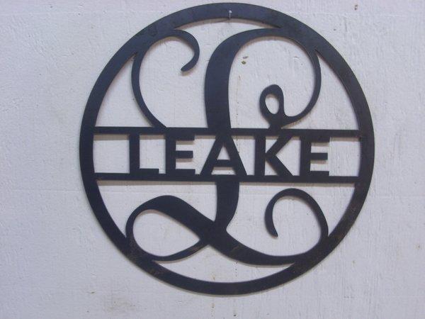 Custom Monogram With Last Name Discount Metal Works Llc