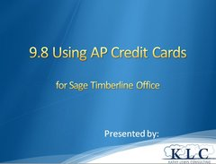 Sage 300 CRE - Accounts Payable Credit Card Feature