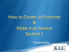 QuickBooks Online 2017- Estimate to Invoice