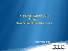 QuickBooks Online 2017- Bank & Credit Card Accounts