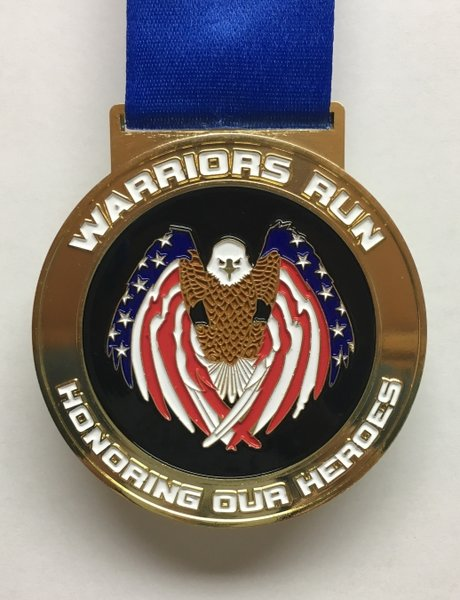 Warriors Run Medal
