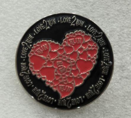 Love 2 Run Pin