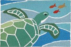 Sea Turtle on Blue Waves