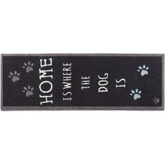 Hug Rug RUNNER - HOME IS WHERE THE DOG IS - BLACK