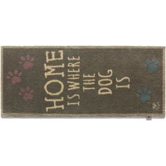 Hug Rug RUNNER - HOME IS WHERE THE DOG IS - BROWN