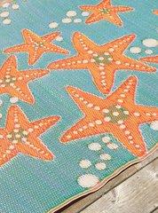 Starfish – Aqua/Tangerine