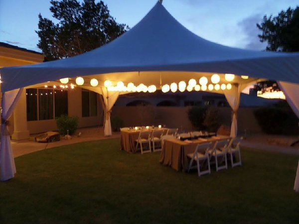 20x20 Tent Rental Includes Set Up Fees