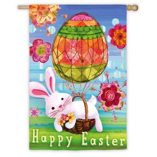 Easter Bunny Balloon House Flag