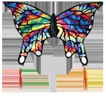 TyeDye Butterfly Kite by SkyDog Kites