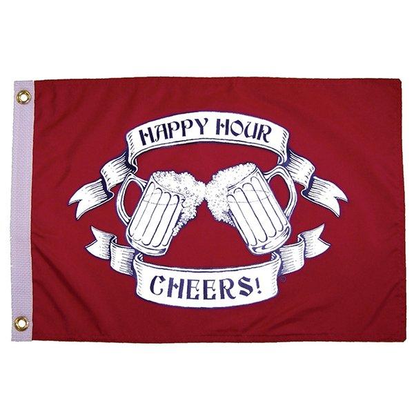 "The Happy Hour Cheers 12""x18"" Grommet Flag"