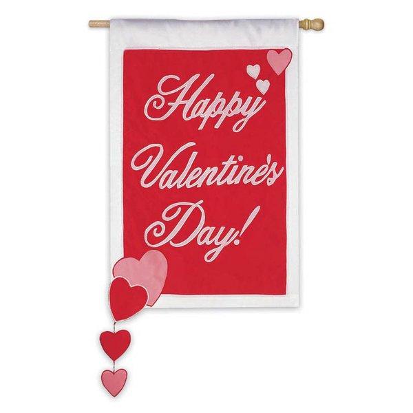 Valentine Spinnin' House Flag