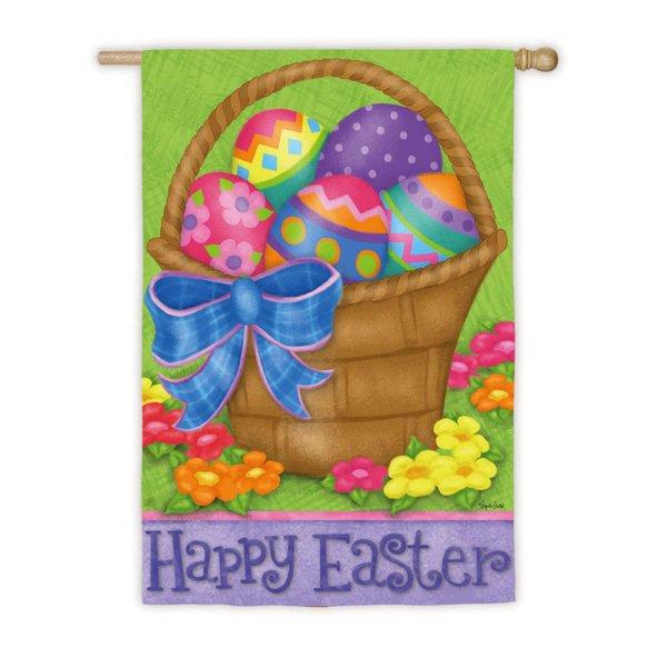 Happy Easter Basket Garden Flag