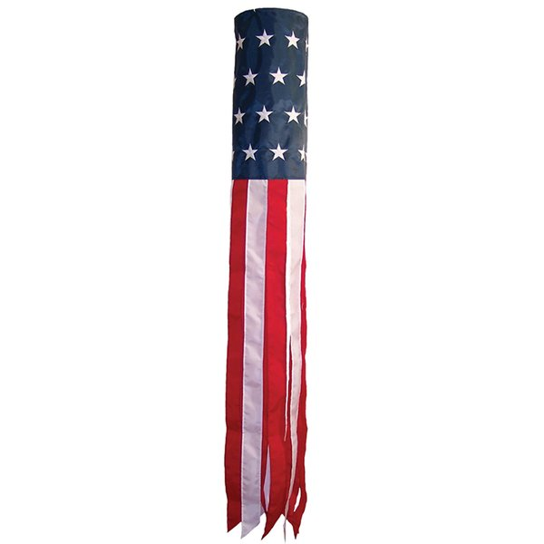 "U.S. Stars and Stripes Embroidered 60"" Windsock"