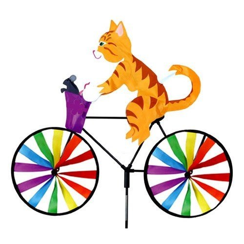 Kitty on Bicycle Small Spinner by Premier