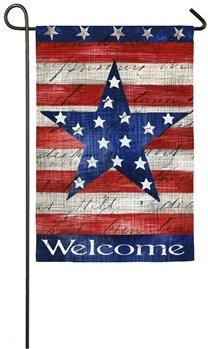 Patriotic Stripe & Star GardenFlag