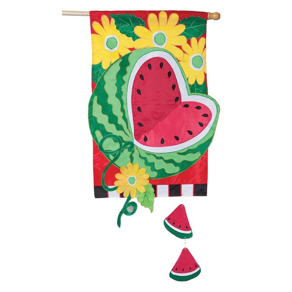 Watermelon Summer Garden Flag