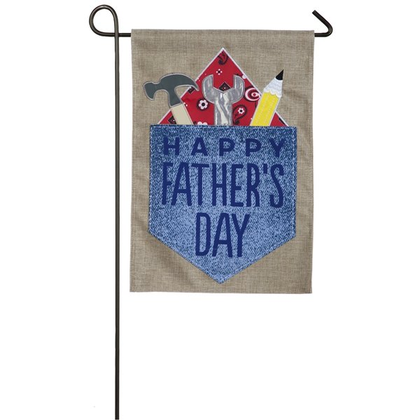 Happy Father's Day Burlap Garden Flag