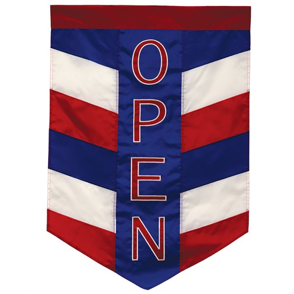 Open Patriotic Applique Garden Banner