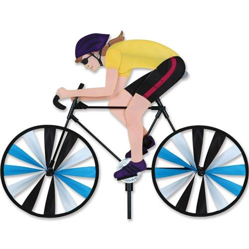 Lady on Bicycle Spinner Small by Premier