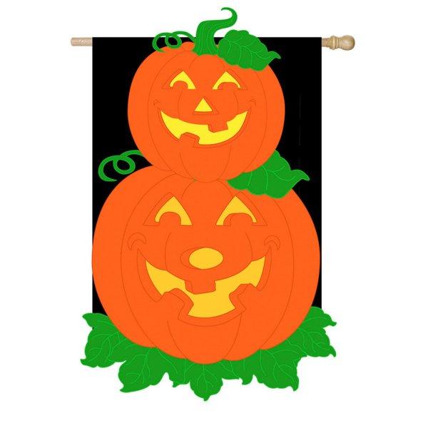 Pumpkin Stack House Flag