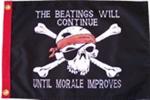 3 X 5 Beatings Will Continue Flag