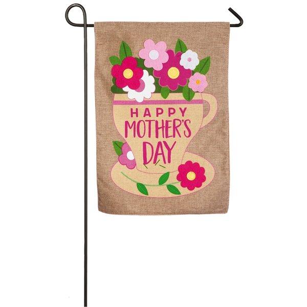 Happy Mother's Day Burlap Garden Flag