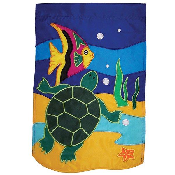 Sea Turtle Applique Banner