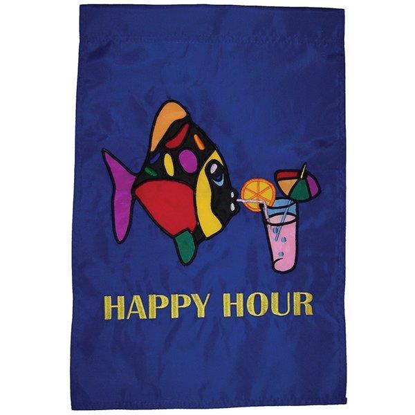 Happy Hour Fish Applique Banner