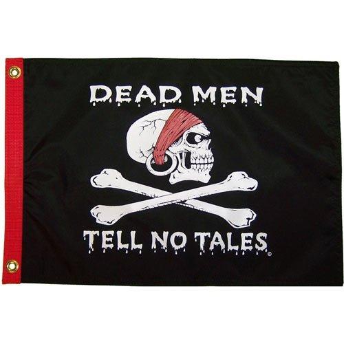 Deadmen Tell No Tales 12x18 Grommet Flag