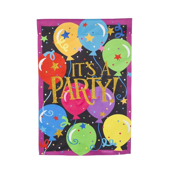 It's A Party Garden Flag