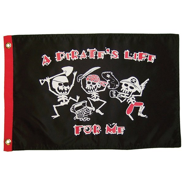 A Pirate's Life for Me 12x18 Grommet Flag