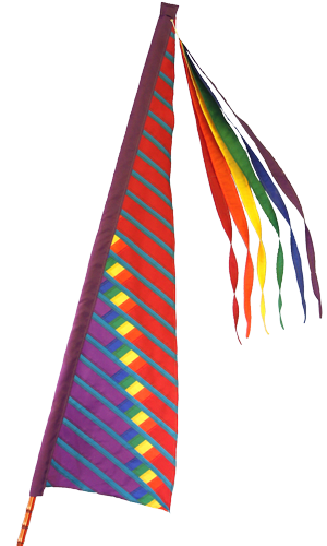 Rainbow Lawnsail Banner by SoundWinds