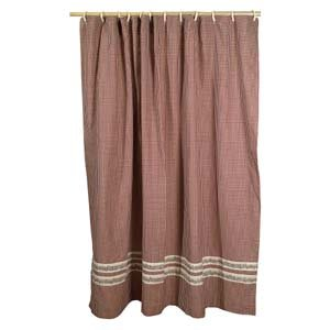 Burgundy Berry Vine Shower Curtain