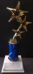 "Triple Star 3"" Column Trophy"