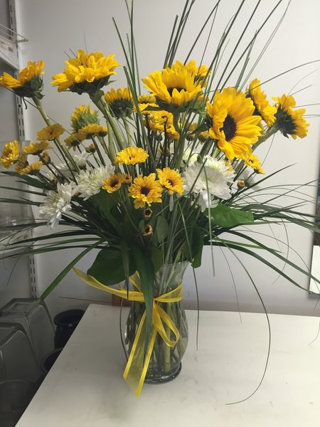 Large sunflower vase flowers of sandy springs large sunflower vase mightylinksfo Gallery