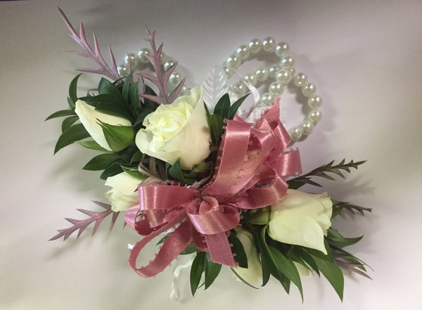 White and pink corsage flowers of sandy springs white and pink corsage mightylinksfo