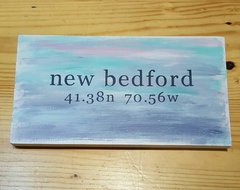 Watercolor Nautical New Bedford Wood Sign