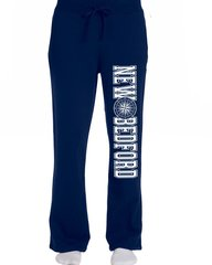 Ladies New Bedford Compass Sweatpants Open Bottoms With Pockets